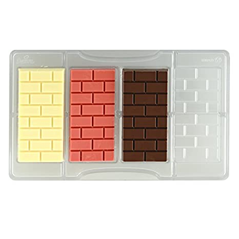 DECORA Molde Ladrillos Tableta de Chocolate, de policarbonato, Transparente: Amazon.es: Hogar