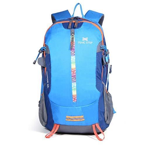 DAVIDNILE Hiking Backpack - Outdoor Travel Bag Waterproof Rucksack School Daypack Tablets Bookbag for Men & Women 30L (TS30085-Blue) [並行輸入品] B07R4WND51