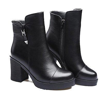 Botas de la mujer la comodidad de microfibra Primavera Borgoña Casual gris plana negra Black