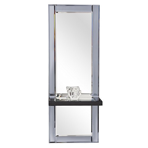 Howard Elliott Emerson Modern Mirror and Shelf, Candleholder