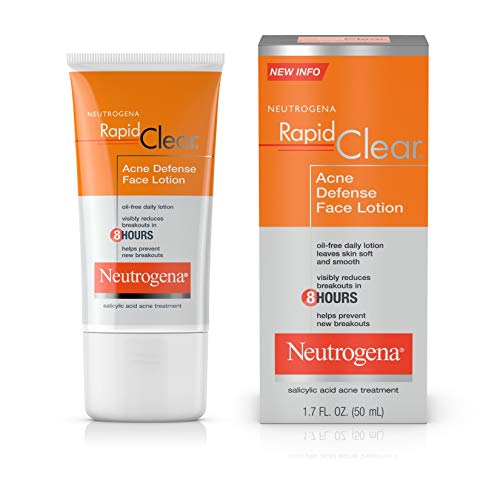 Neutrogena Rapid Clear Acne Defense Face Lotion 1.7 Fluid Ounce (50 ml)