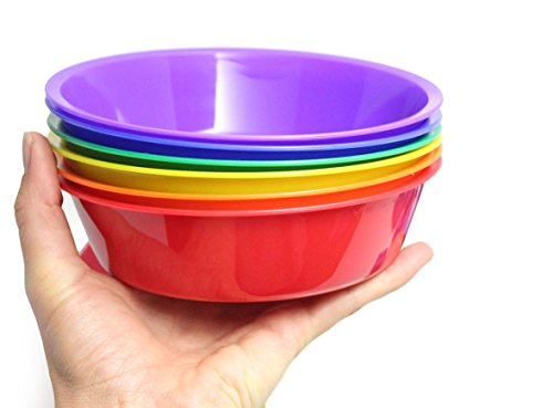 Curious Minds Busy Bags 6 Jumbo Color Sorting Bowls for Preschool and Early Childhood Education - Color learning toy - Sorting Tray