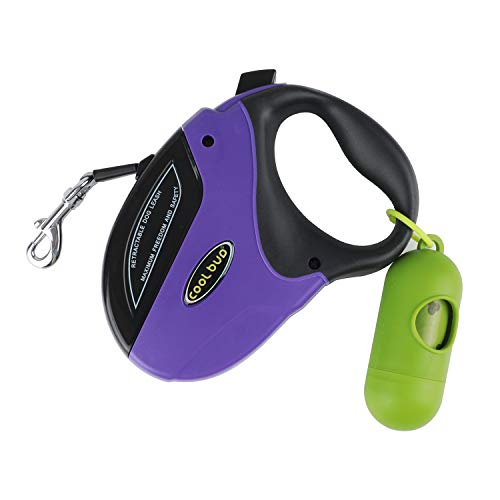 Retractable Dog Leash Heavy Duty Walking Lead for Small,Medium & Large Dogs Up to 110lbs,Strong Nylon Ribbon Extends 16ft Tangle Free,One Button Break & Lock,Dog Waste Dispenser and Bags Included (Retractable Leash Animal Dog)