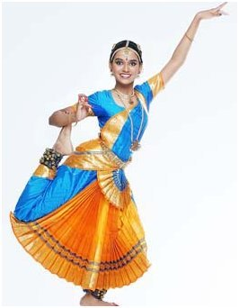 Bharata natyam dress colour combinations with yellow