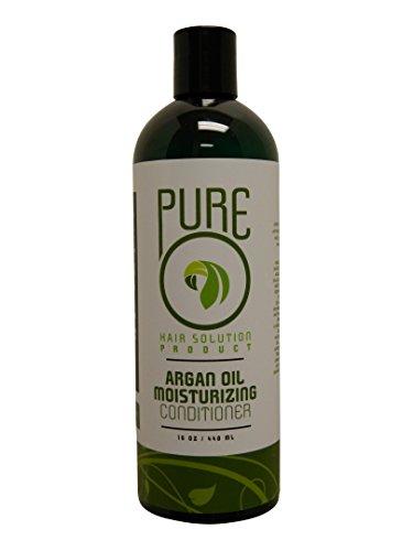 Чистый Решение волос Аргана масло Увлажняющий кондиционер на 8 унций (237ml) -Парикмахер Loss Prevention All Natural Organic, поддержка здорового роста волос