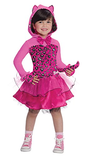 [UHC Girl's Barbie Kitty Cat Barbie Doll Toddler Fancy Dress Halloween Costume, 2T-4T] (Barbie Dress For Toddlers)