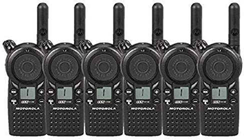 6 Pack of Motorola CLS1110 Two Way Radio Walkie Talkies