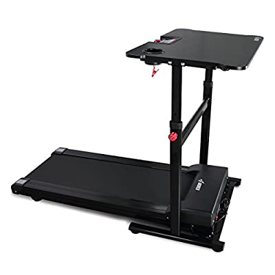 Akonza Electric Standing Walking Treadmill Desk Workstation w/Tabletop Adjustable Height for Home & Office w/Cup Holder
