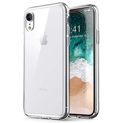 iPhone Xr case, PUSHIMEI Soft TPU Crystal Transparent Slim Anti Slip Anti-Fingerprint Full-Body Protective Phone Case Cover for Apple iPhone 10r / iPhone Xr 2018 6.1 (Clear TPU)