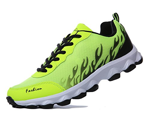 WELMEE Womens Mens Comfortable Breathable Walking Sneakers Lightweight Jogging Athletic Tennis Running Shoes Green