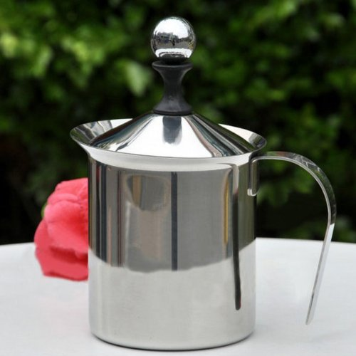 400ml Stainless Steel Milk Bubble Coffee Latte Art Pot. (Steam Wands For Frothing Milk compare prices)