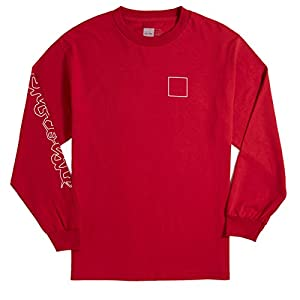 Chocolate Line Chunk and Square Long Sleeve T-Shirt - Cardinal - XL