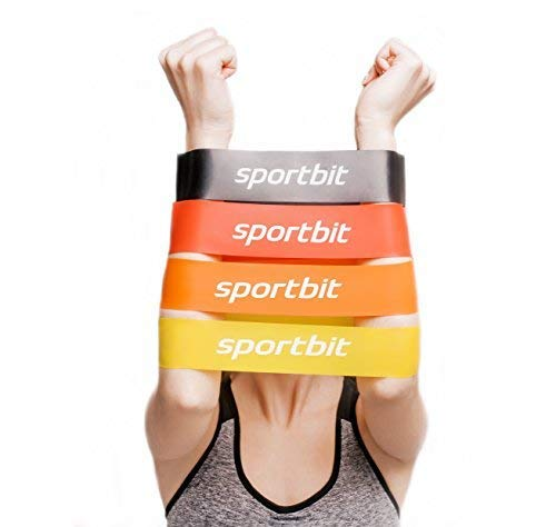 SPORTBIT Resistance Bands Set with Bag & e-Book for Exercise & Workout