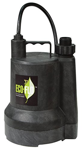 ECO-FLO Products SUP54 Manual Submersible Utility Pump, 1/6 HP, 1,680 GPH ()