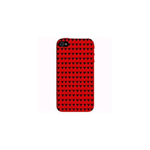 Coque Apple Iphone 4-4s - Taureaux Fond Rouge