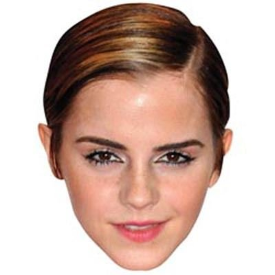 Emma Watson Celebrity Mask, Card Face and Fancy Dress Mask (Celebrity Face Masks)