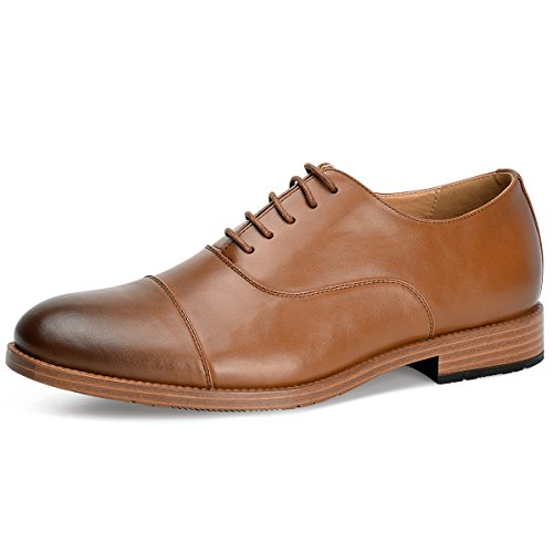Men%27s%C2%A0Oxford+Dress+Shoes+Leather+Formal+Shoes+%2812%2C+Brown%29