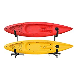 RAD Sportz Deluxe Freestanding Heavy Duty Kayak Racks For Two or Six Kayaks