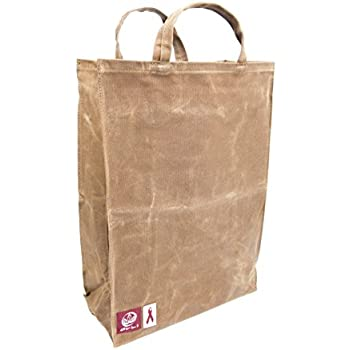 Amazon Com Olli Reusable Waxed Cotton Canvas Grocery Tote