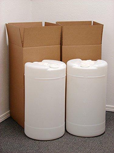 15 Gallon Emergency Water Storage Drum, 2 Pack, Natural - New! - (Water Storage Drum)