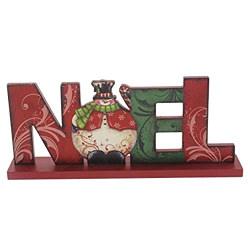impressive enterprises 13 x 525 holiday noel tabletop sign - Christmas Shelf Decorations
