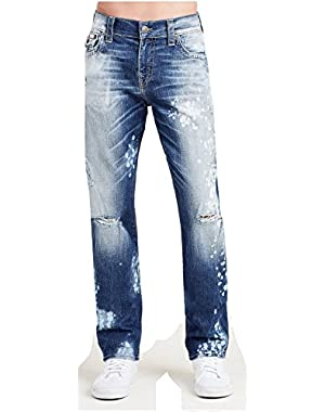 Men's Geno Relaxed Slim Fit w/ Flap Jeans in Indigo Anthem