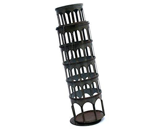 - Thirteen Chefs Leaning Tower Wine Bottle Holder, Novelty Wine Rack
