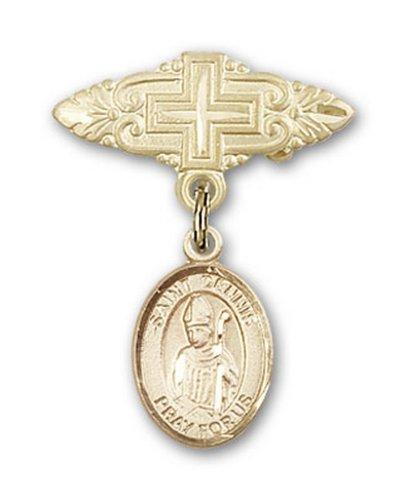 Icecarats Or Bijoux De Créateurs Rempli R. Dennis Broche De Badge Charme Avec Une Croix X 3/4