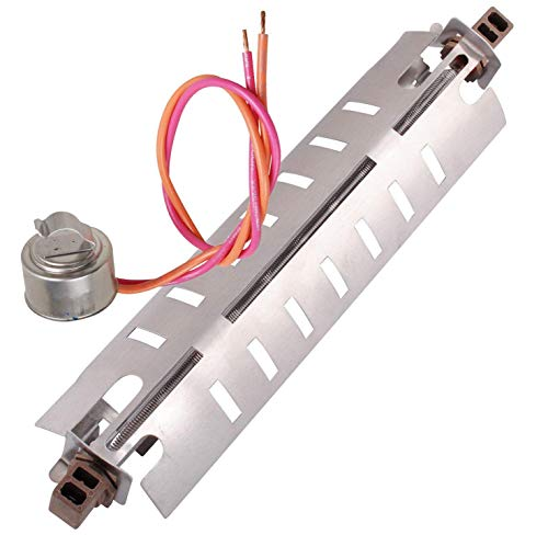 Defroster Heater - WR51X10055 Refrigerator Defrost Heater and WR50X10068 Thermostat Kit for General Electric Hotpoint