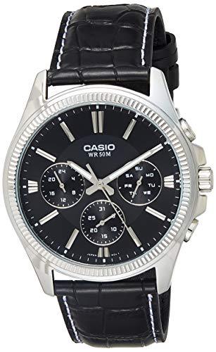 Casio Enticer Black Dial Men #39;s Watch   MTP 1375L 1AVDF  A838