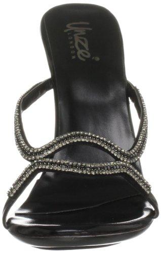 Unze Evening Sandals, Damen Sandalen Schwarz (L18861W)
