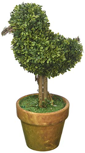 Topiary Bird (VGIA Artificial potted Plant for Home Decor,Green Bird Boxwood,9.0Inch)