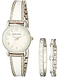Women's AK/2052IVST Swarovski Crystal Stainless Steel Watch Set