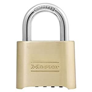Master Lock 175D Resettable Set-Your-Own Combination Lock, Die-Cast,  with 1-inch shackle