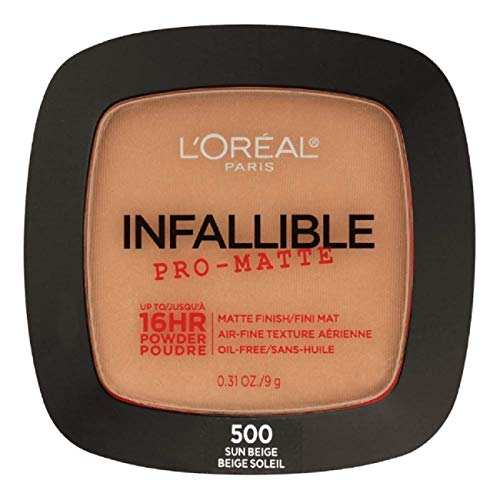 L'Oreal Paris Infallible Pro-Matte Powder, Sun Beige [500] 0.31 oz