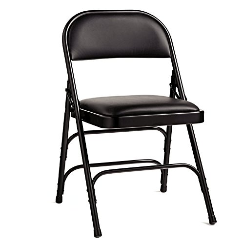 Samsonite 2800 Series Vinyl Padded Seat Chair (Case/4) Black by Samsonite