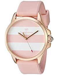 Juicy Couture Women's 'Jetsetter' Quartz Gold and Silicone Automatic Watch, Color: Pink (Model: 1901486)
