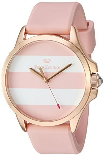 Juicy Couture Women's Pink Silicone Strap Watch - 1