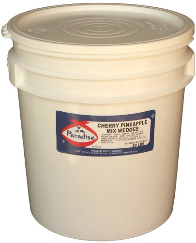 Paradise Cherry Pineapple Mix, Whole Cherry, Wedged, 30 Pound Tub by Paradise (Image #1)