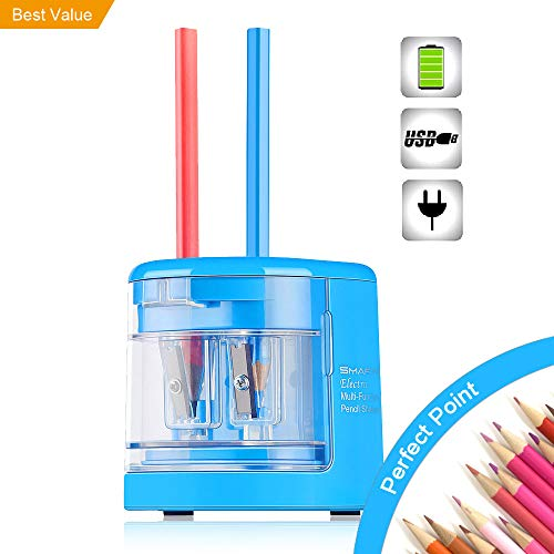 (SMARTRO Electric Pencil Sharpener, Best USB or Battery Operated for No.2 and Colored Pencil)