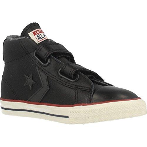 Adolescente Converse Player Star Cuero bota unisex 2v Negro Converse nwqzw4x1Y6