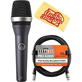 akg d5 vocal dynamic microphone bundle with xlr cable and austin bazaar polishing. Black Bedroom Furniture Sets. Home Design Ideas