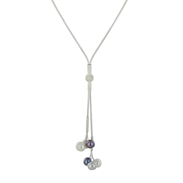 Joyas Les Poulettes - Grande Corbata de Plata con 3 Perlas ...