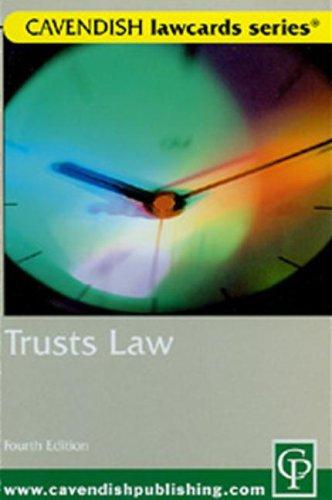 Cavendish: Trusts Lawcards 4/e Routledge-Cavendish