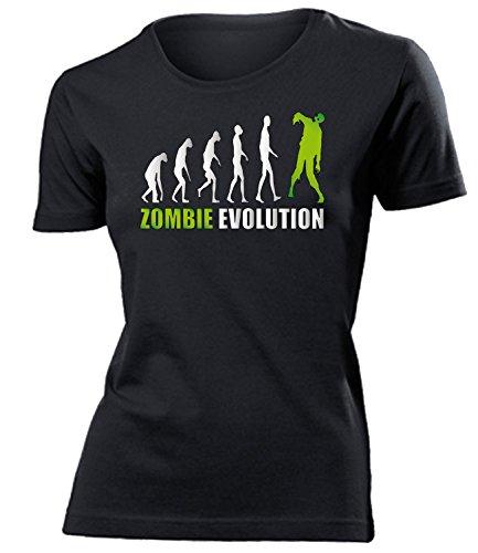 ZOMBIE EVOLUTION mujer camiseta Tamaño S to XXL varios colores Negro / verde