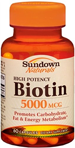 Sundown Biotin 5000 mcg Capsules 60 Capsules (Pack of 11) by Us Nutrition Inc