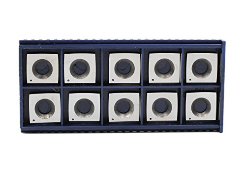 """YUFUTOL 2"""" Face Radius R-50mm Wood Working Carbide Cutter inserts(15X15X2.5-4 edge corner radius,Pack of 10, Fits Planer/Helical Cutter Head and Wood Turning Tools"""