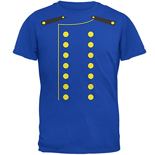 Bellhop Costume Male (Halloween Hotel Bellhop Costume Mens T Shirt Royal LG)