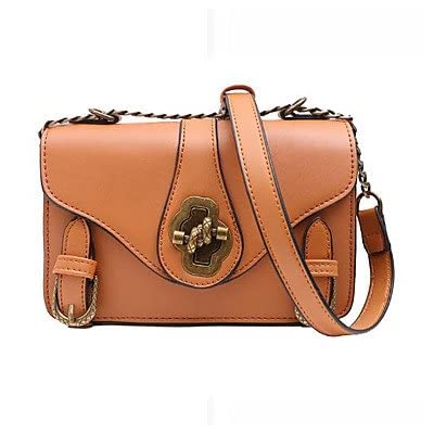 Women Bags All Season PU Shoulder Bag Buttons for Casual Black Brown