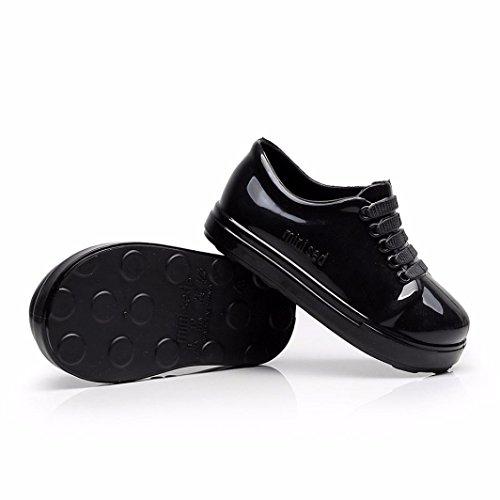 Clode® Wasserdichte Kind-feste Gummistiefel-Regenstiefel scherzt Kinderregen-Schuhe Schwarz